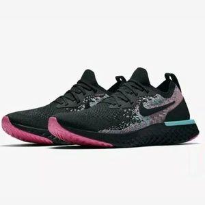 Nike Epic React Flyknit South Beach Black Pink